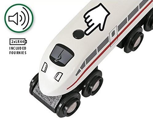 BRIO trein Hogesnelheidstrein met geluid 33748