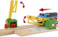 Brio  houten trein accessoire Overweg magnetisch 33750-3