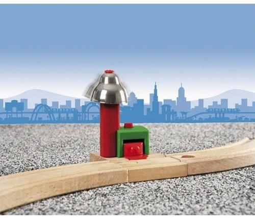 Brio  houten trein accessoire Magnetisch belsignaal 33754-3
