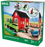 Brio  houten trein set Trein- en paardrij set 33790-2