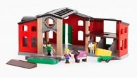 Brio  houten trein accessoire Paardenstal met accessoires 33791-1