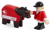 Brio  houten trein accessoire Paard en jockey 33793-1