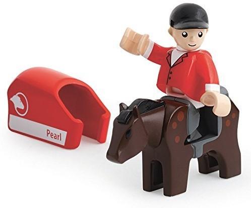 Brio  houten trein accessoire Paard en jockey 33793-2