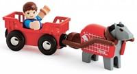 Brio  houten trein accessoire Paard en wagen 33794-1