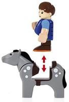 Brio  houten trein accessoire Paard en wagen 33794-3