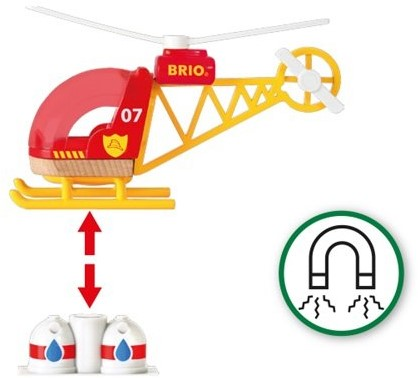 BRIO trein Brandweer helikopter 33797-3