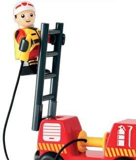 Brio  houten trein accessoire Rescue Fire truck-2