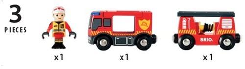 BRIO trein Brandweerwagen 33811-3