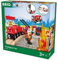 Brio  houten trein set Rescue Fire Rescue Set Flat 33815-3