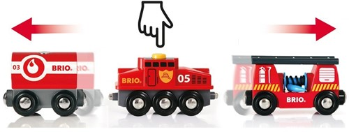 Brio  houten trein Rescue Cargo Train-3