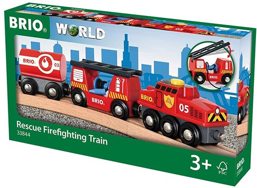 Brio  houten trein Rescue Cargo Train-2