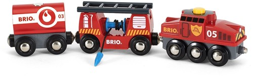 Brio  houten trein Rescue Cargo Train-1