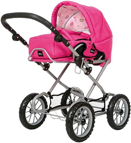 BRIO speelgoed Poppenwagen Combi - Fuchsia