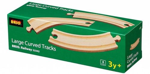 Brio  houten treinrails 4 bochten 33342-2