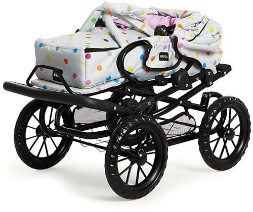 Brio poppenwagen Combi - Grijs met stippen-3