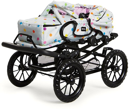 Brio poppenwagen Combi - Grijs met stippen