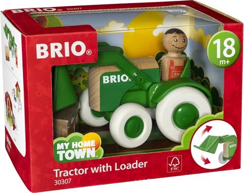 BRIO Tractor met voorlader - 30307