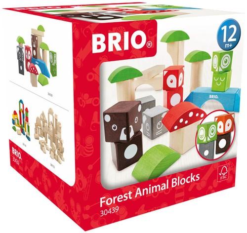 Brio  houten bouwblokken Bosdieren-1