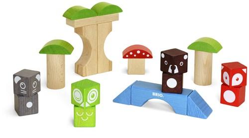 Brio  houten bouwblokken Bosdieren-2