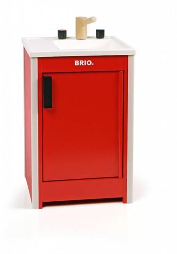 Brio  houten keukentje Spoelblok rood 31358-1