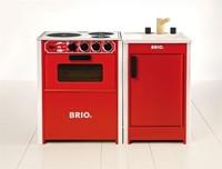 Brio  houten keukentje Spoelblok rood 31358-2