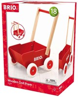 Brio houten poppenwagen Rood