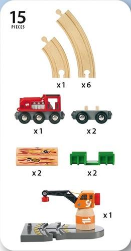 Brio trein kraanset 33162-3