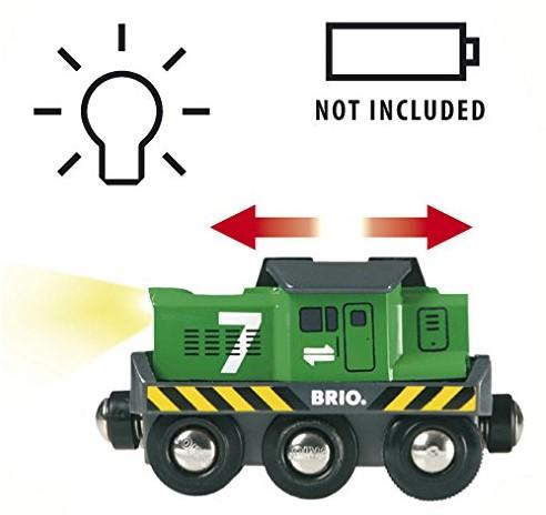 BRIO trein Locomotief voor goederentrein op batterijen 33214