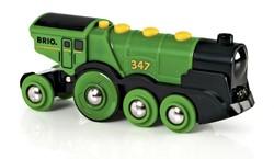 BRIO trein Grote groene locomotief op batterijen 33593