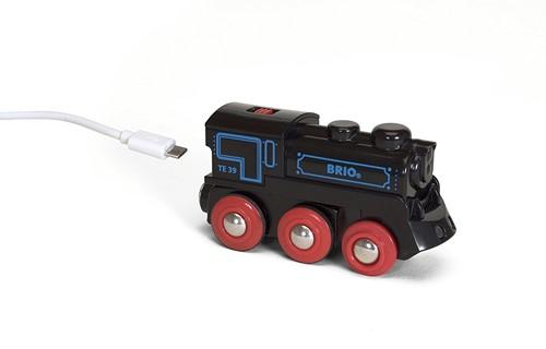 BRIO Oplaadbare locomotief met mini USB - kabel - 33599