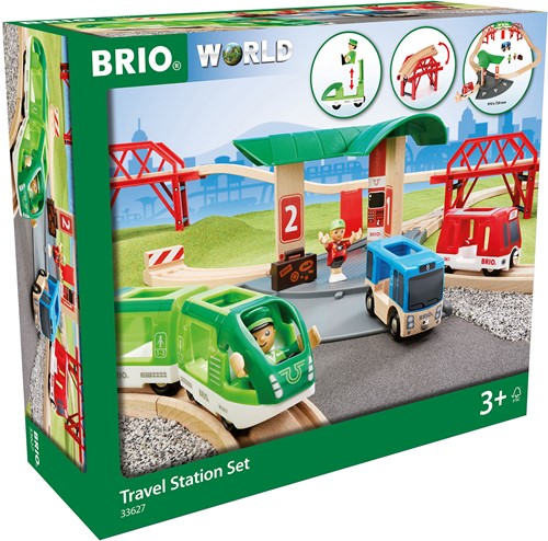 Brio houten trein set Travel Station set 33627-2