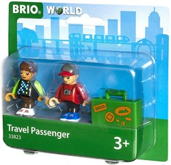 BRIO trein Twee reizigers met koffer 33823