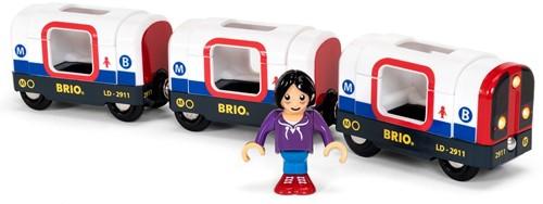 BRIO Tube Metro Train (2 Wagons)