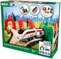 BRIO trein SMART locomotiefset met actietunnels 33873