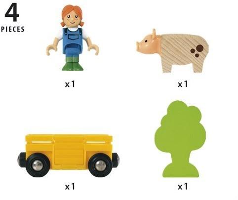 BRIO train Farm Girl Play Kit 33875-2