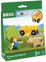 BRIO train Farm Girl Play Kit 33875-3