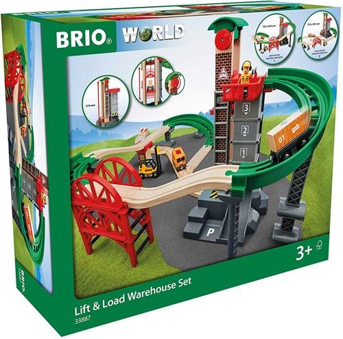 BRIO train Lift and Load Warehouse Set 33887-3