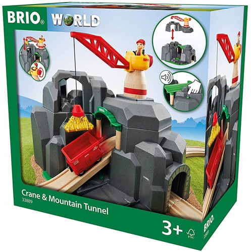 BRIO train Crane and Mountain Tunnel 33889-2