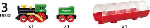 BRIO trein Stoomtrein & Tunnel - 33892-3