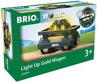 BRIO train Light Up Gold Wagon 33896-2