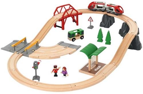 Brio houten trein set rail & road city set 33915
