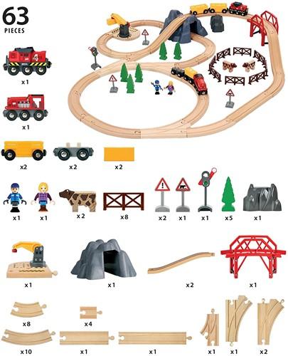 Brio houten trein set Large Countryside & Cargo set 33934-2