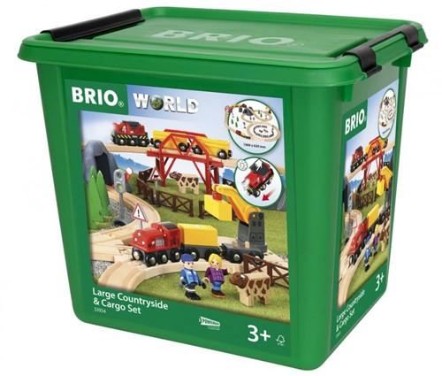 Brio houten trein set Large Countryside & Cargo set 33934-3