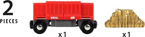 BRIO trein Vrachtwagon met goudlading - 33938-3