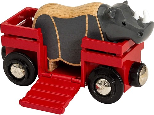 BRIO Wagon met neushoorn - 33968
