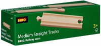 Brio  houten treinrails Rechte rails middellang 33335-2