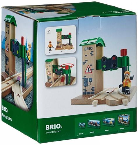 Brio  houten trein gebouw Seinstation 33674-2