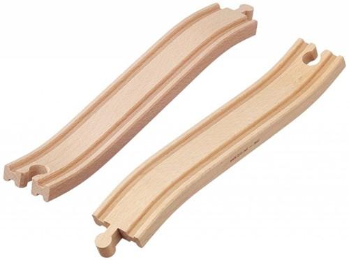 Brio  houten treinrails Op en afrit 33332-1