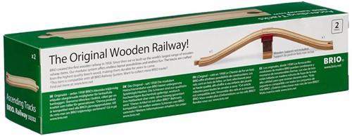 Brio  houten treinrails Op en afrit 33332-2