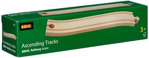 Brio  houten treinrails Op en afrit 33332-3